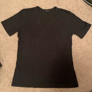 Theory black v neck T shirt in good condition